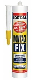 SOUDAL KLEJ MONTAŻOWY DO PCV MONTAGE FIX 280ml