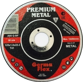 TARCZA DO CIĘCIA METALU 125x1,0mm  PREMIUM GERMA FLEX
