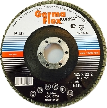TARCZA LISTKOWA DO METALU 125mm GR. 40 GERMA FLEX (1)