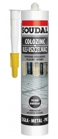 SOUDAL KLEJ DO BLACH COLOZINC 290ml SZARY